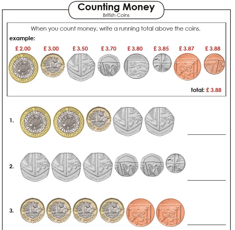 superteacherworksheets on twitter british primary teachers our counting money worksheets. Black Bedroom Furniture Sets. Home Design Ideas
