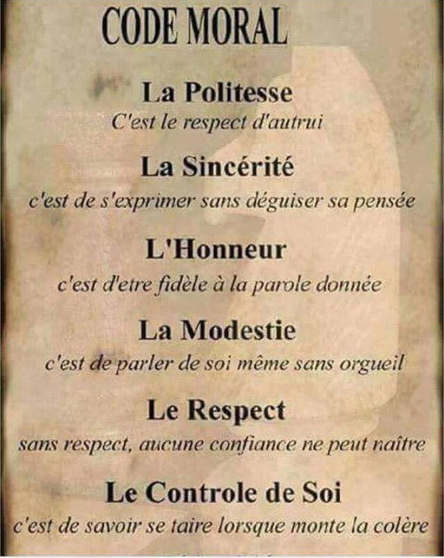Code #moral  #Feminastro #Citations #Politesse #Savoir_vivre #Respect #Lavie<br>http://pic.twitter.com/wLKWCst8W0