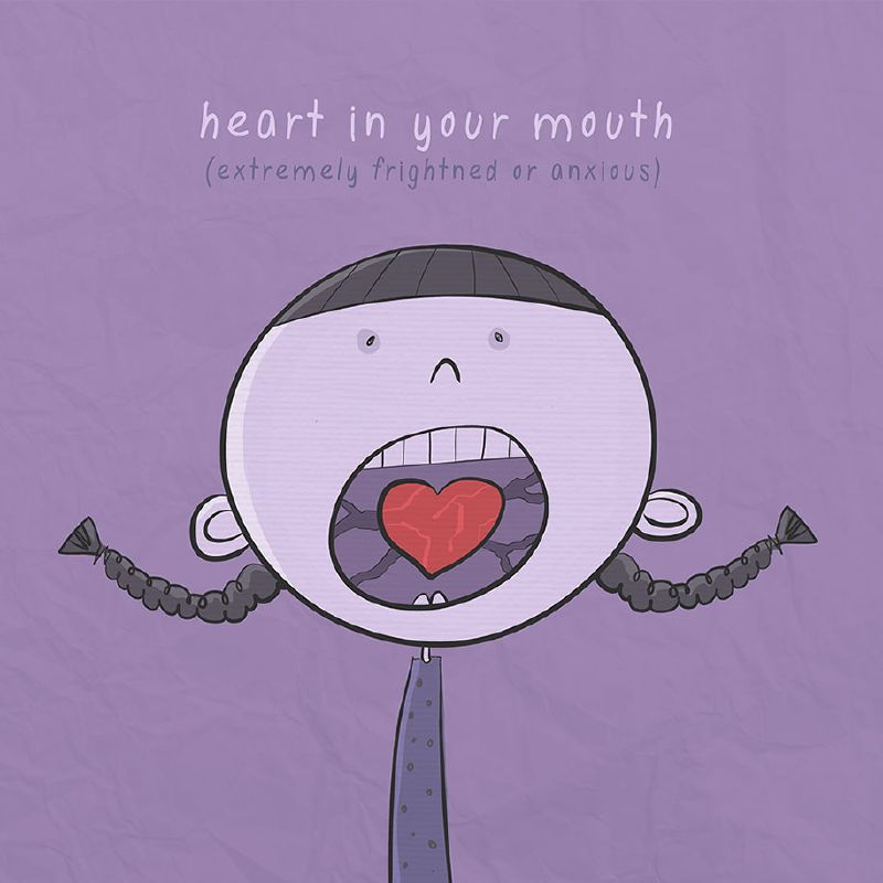 The idiom (frase hecha) for today is....Heart in your mouth  #fraseseningles #theclassroompalma #clasesdeingles #englishidioms <br>http://pic.twitter.com/2lxsQEzT8f