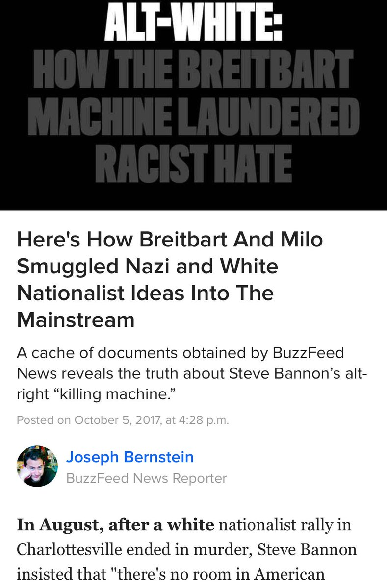Long but well worth the time. #Buzzfeed #Bannon #Trump #Milo #Nazis<br>http://pic.twitter.com/8c0DjOPRGe