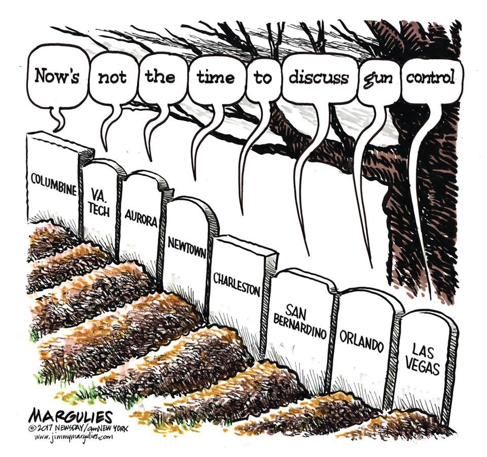 Editorial cartoon by Jimmy Margulies #LasVegasShooting #MassShootings #MassShooter #GunControl #DomesticTerrorism #WhiteMaleViolence<br>http://pic.twitter.com/qiujhibNz9