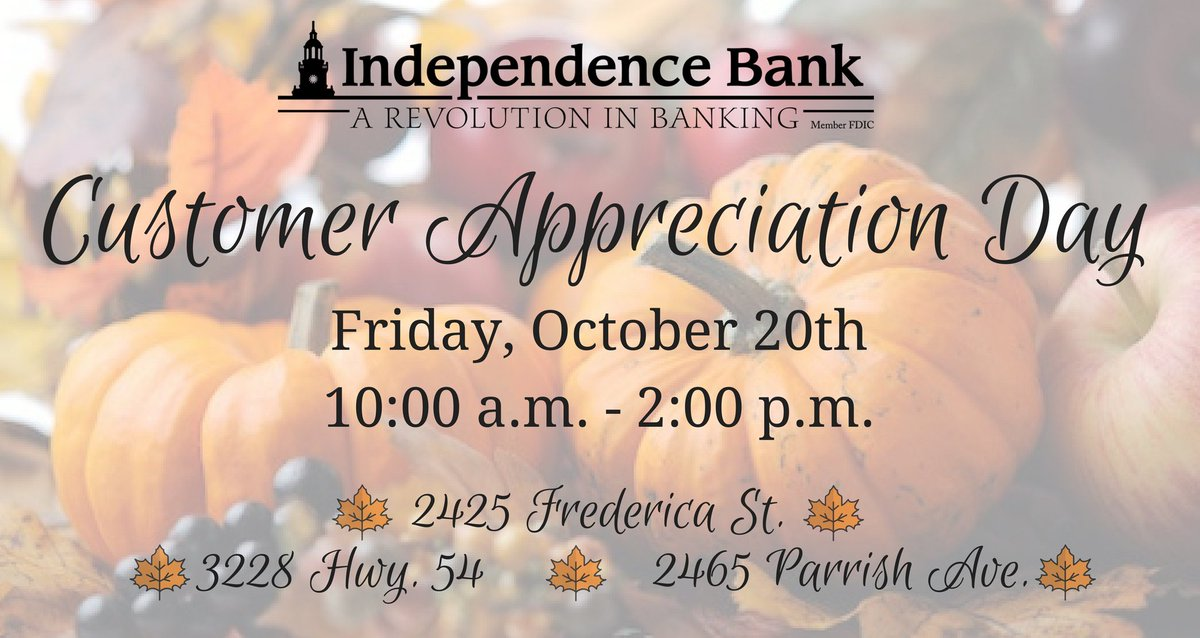 Save the date for our Customer Appreciat...