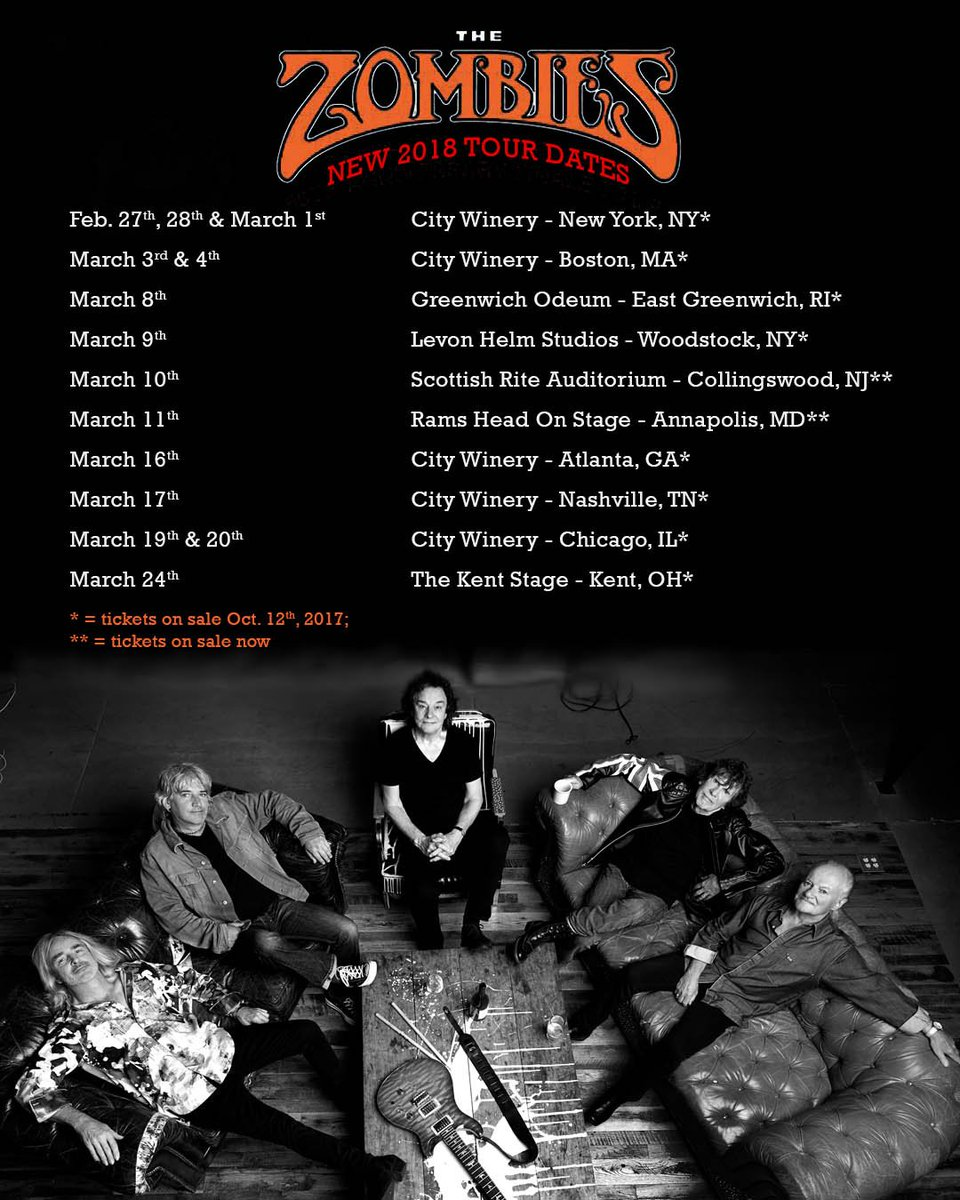 With the excitement of yesterday's @rockhall nomination we are thrilled to  announce our February/March 2018 US tour! ...
