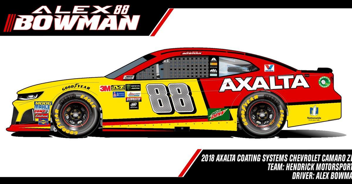 "Jimmie Johnson Chevy >> GMAL1996 Designs on Twitter: ""2018 @Axalta Chevrolet Camaro ZL1 @AlexBRacing @AxaltaRacing ..."