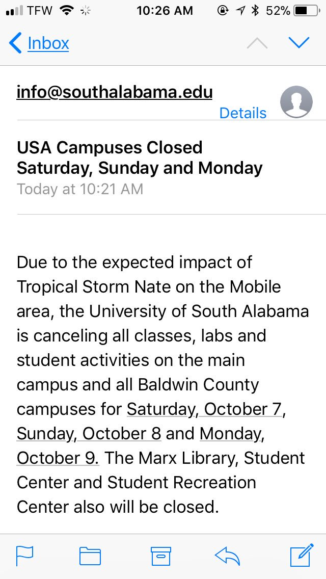 Y'all South is canceling class we about die  #USA19 #USA20 #USA21<br>http://pic.twitter.com/dNJFDiynih
