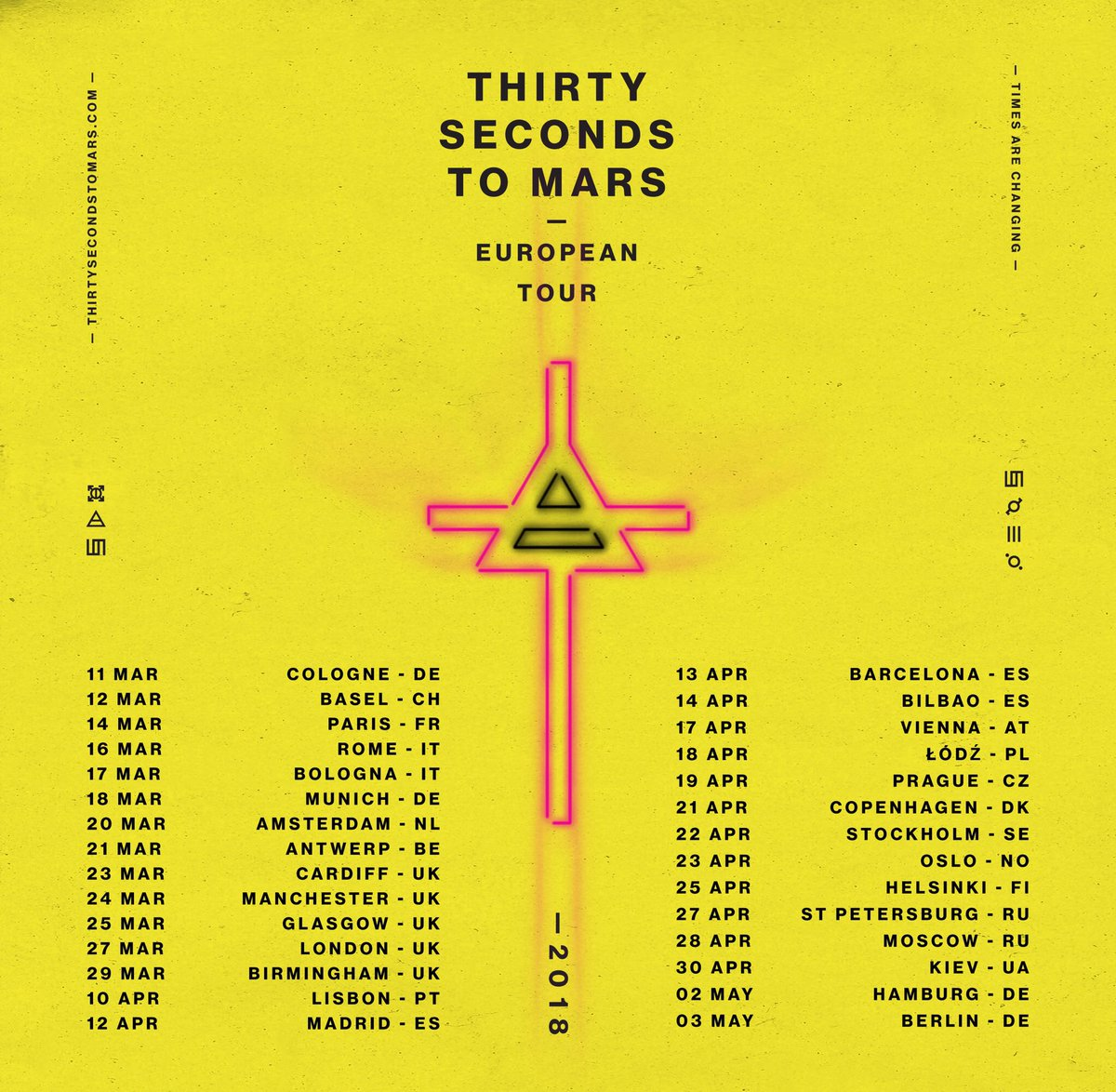 Thirty seconds to mars on twitter announcing the return of mars thirty seconds to mars on twitter announcing the return of mars european tour 2018 tix vip on sale fri oct 13 m4hsunfo
