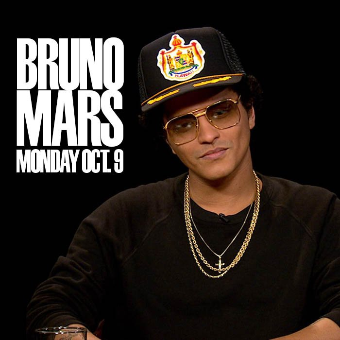 On Monday, @BrunoMars will be at the table with @charlierose on @PBS. https://t.co/JZO3KseclC