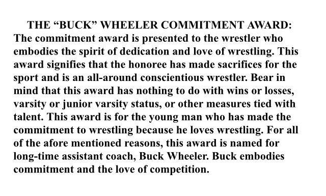 Long time @sepwrestling coach Buck Wheeler being inducted tonight into SEPs Hall of Honor. End of season commitment award named after him! https://t.co/WMPzlcsYG0