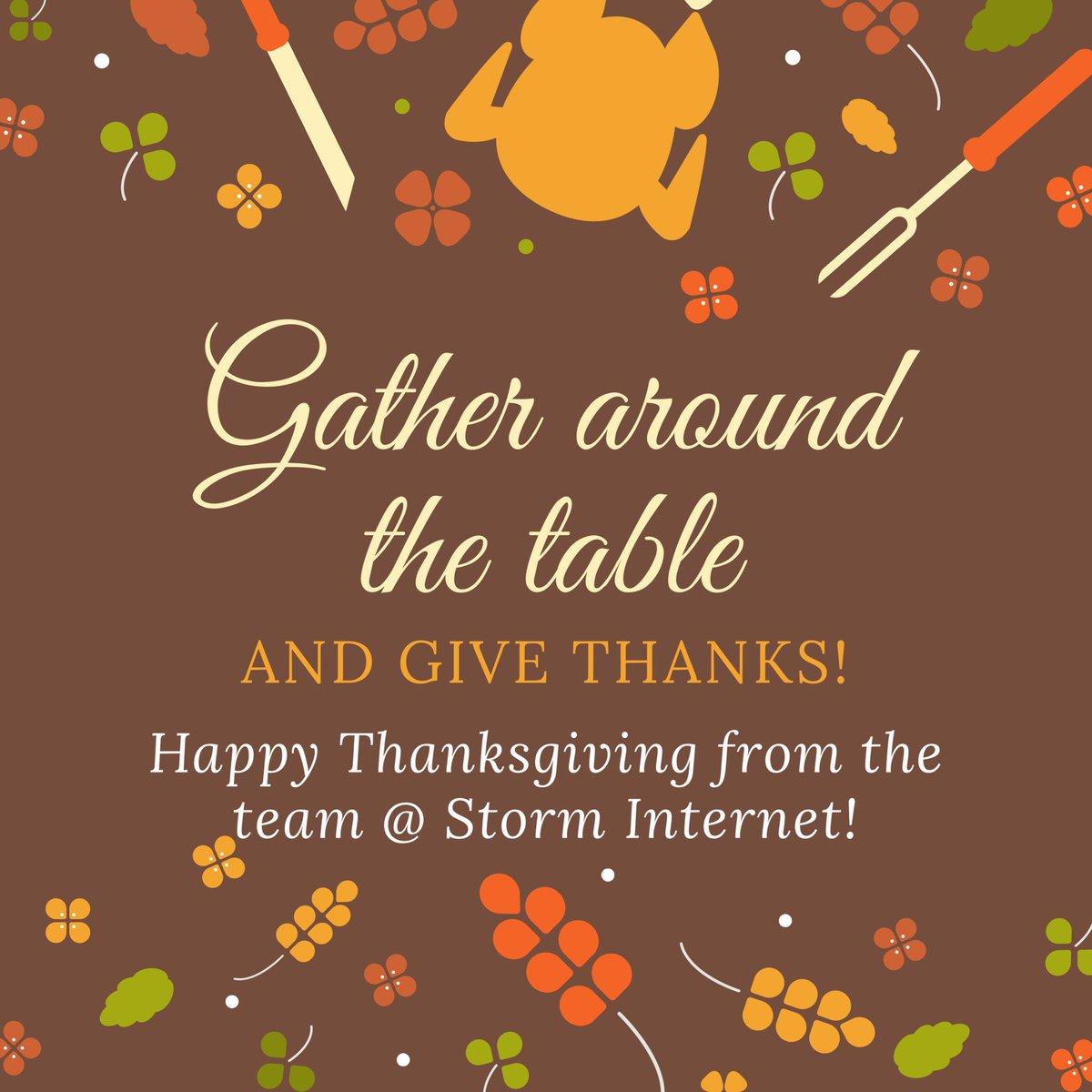 Happy Thanksgiving! Enjoy the long weeke...
