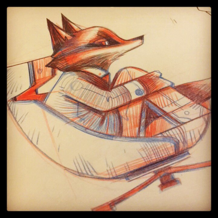 Stately Fox. #wip #sketch #vintagechairs pic.twitter.com/NCUABzqI62