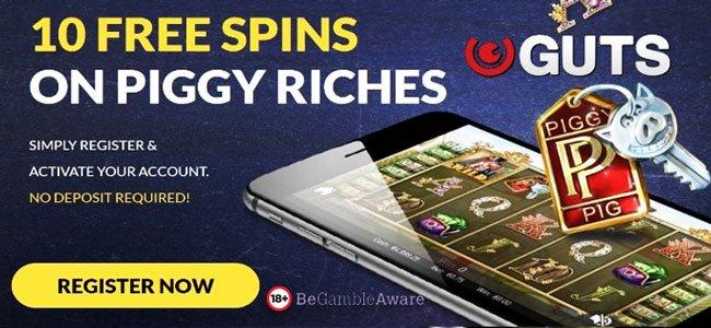 GUTS 10 free spins