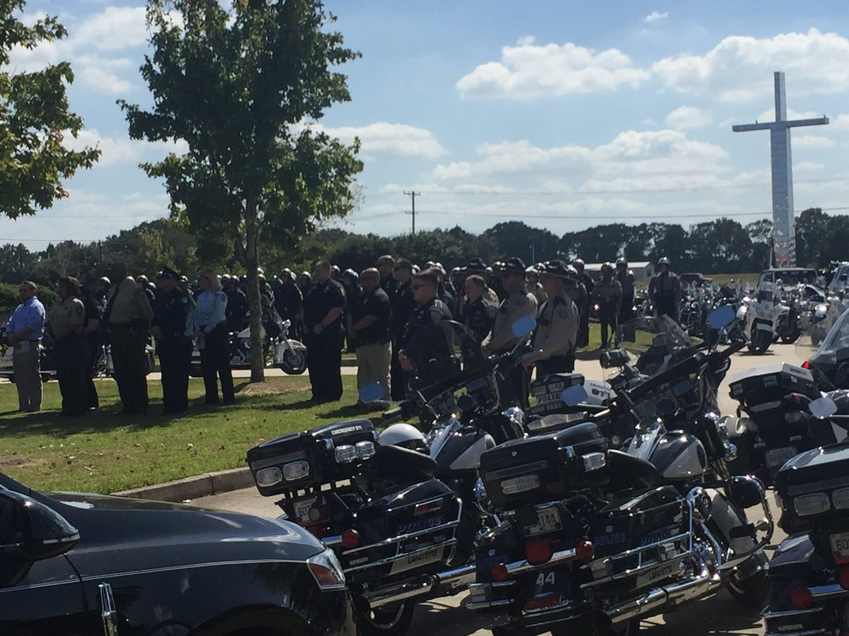 """Katie Lopez on Twitter: """"A sad day for Acadiana as Lafayette Police Cpl. Michael Middlebrook is laid to rest. He was killed Sunday night… """""""