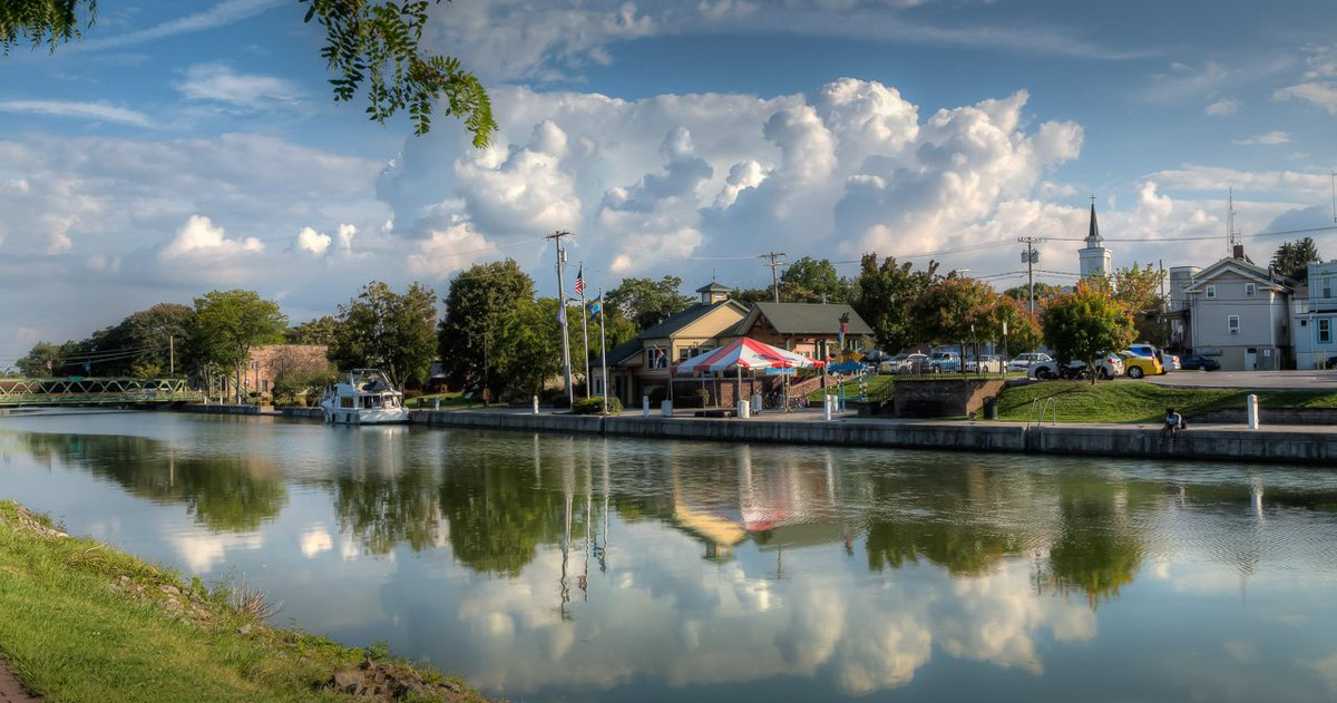 Brockport in the Clouds, reflected in the waters of the Erie Canal #HDR #Brockport #Erie Canal <br>http://pic.twitter.com/SpTgTPnpe0