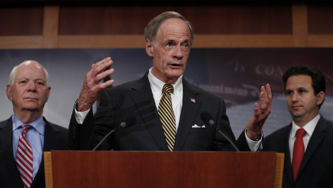 Democrat Senator Tom Carper hit wife in the face, after denying it