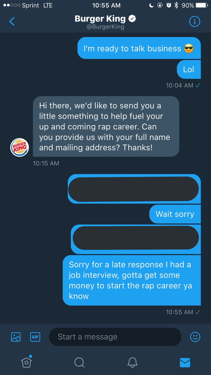 on twitter when burgerking loves you and supports you so they send you a 10 gift card yall i love burger king its lit - Loves Fuel Card