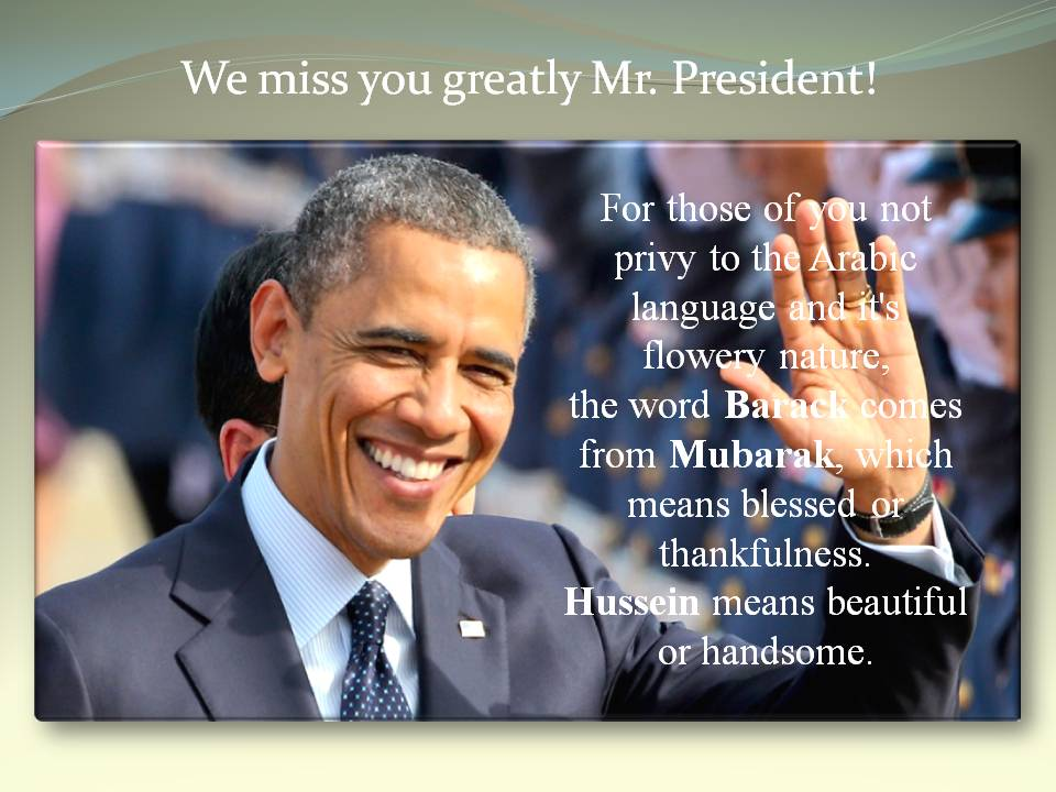We miss you greatly Mr. President! #Barack #Obama<br>http://pic.twitter.com/UGHNW7Kxor