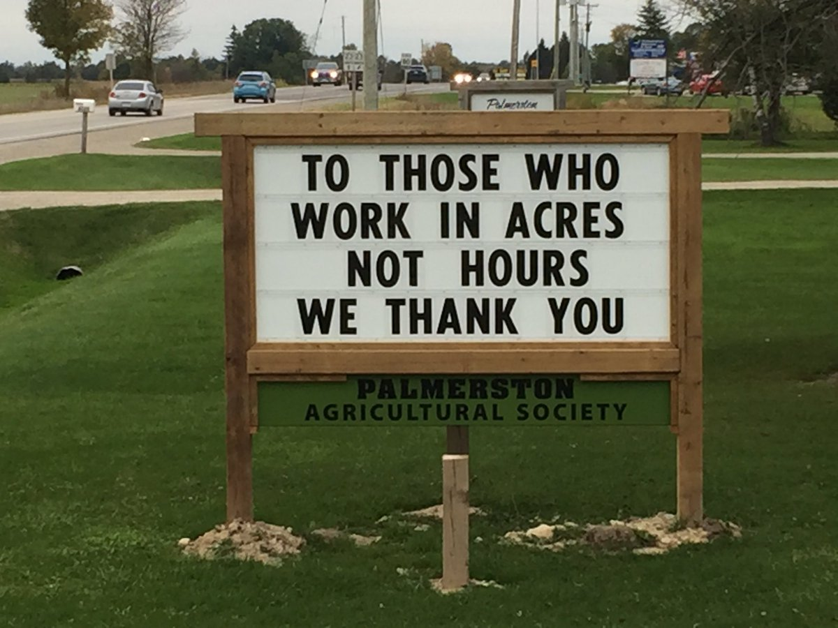 Great sign in Palmerston #thankafarmer h...