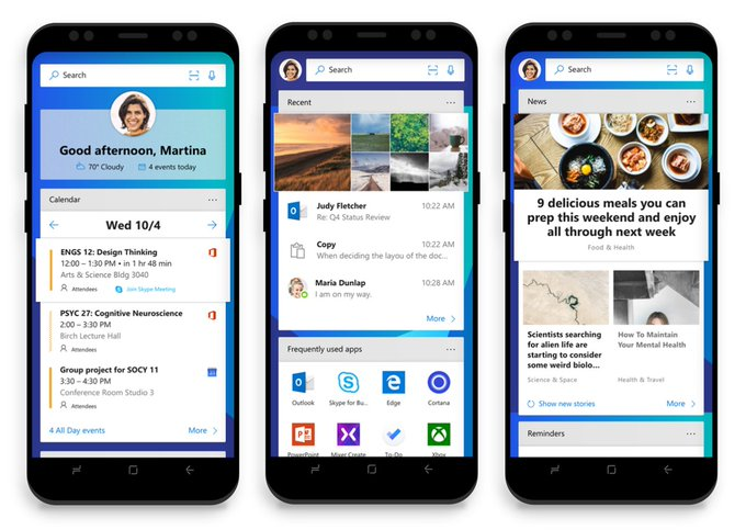 Microsoft Launcher home page
