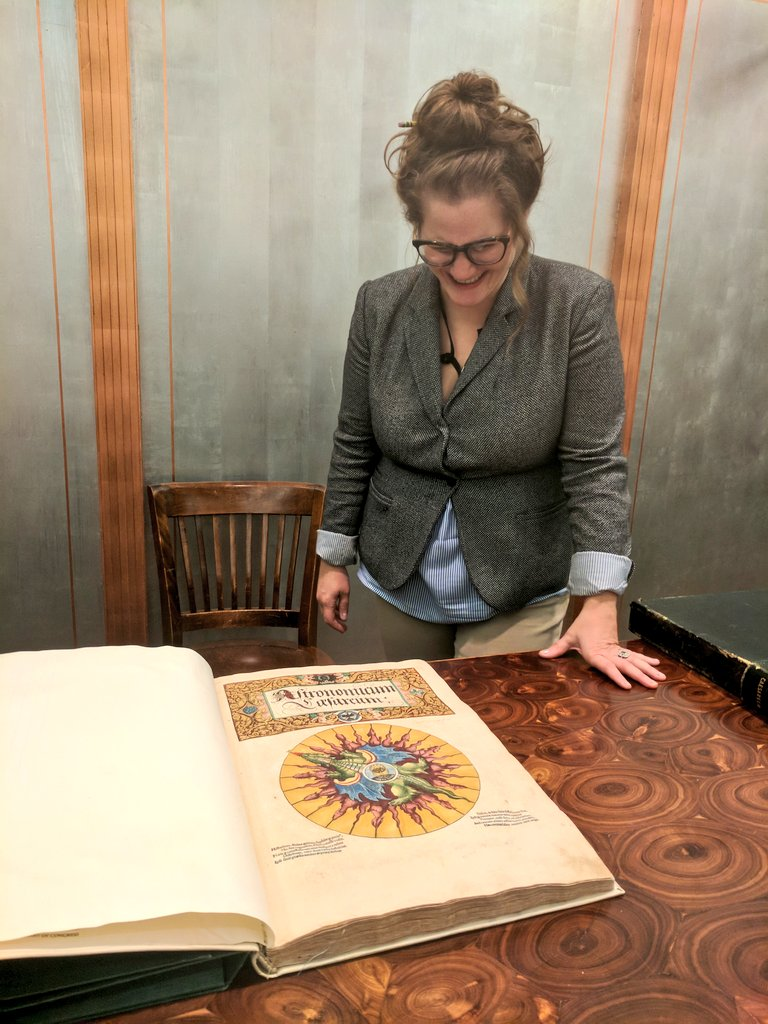 """This is one of the most beautiful books ever made"" - Stephanie Stillo on the Astronomicum Caesarium (1540) https://t.co/d81NSiVTzU"