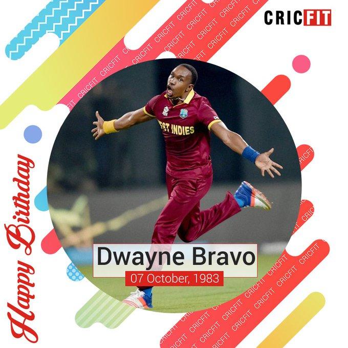 Cricfit Wishes Dwayne Bravo a Very Happy Birthday!