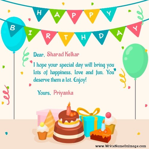 Wish you many more happy returns of the day sharad kelkar May God bless you           birthday