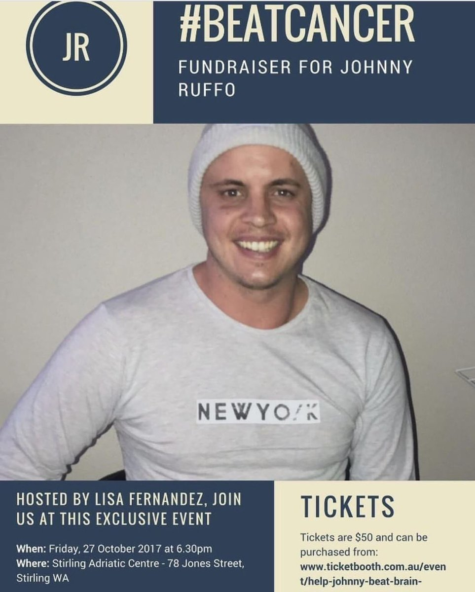 WA and Perth peeps - if you can please support my beautiful friend #JohnnyRuffo. Thanks and see you at @Telethon7
