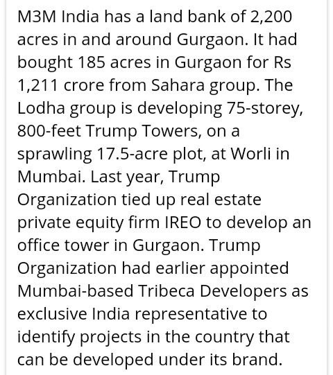 #Trump Organization had appointed Mumbai-based Tribeca Developers as exclusive India representative to identify projects in the country <br>http://pic.twitter.com/zwuPd52Nmq