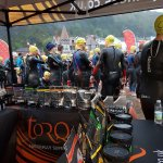It's wet and windy at the @aweventsteam #TORQFuelled Mumbles Tri this morning...