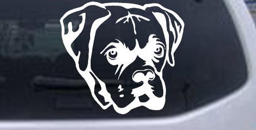 6in X 5.5in White -- Boxer Bulldog Animals Car Window Wall Laptop Decal Sticker  http:// dlvr.it/PsyZLg  &nbsp;   &lt;- Click! #boxers <br>http://pic.twitter.com/m9OqNUaYIF