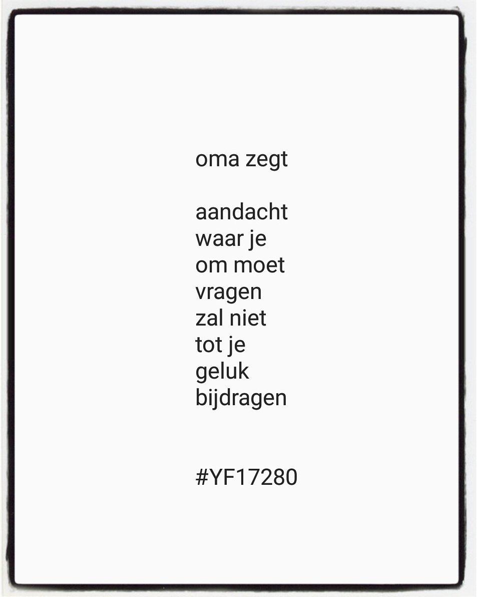 Yvonne Franssen בטוויטר Hou Dus De Eer Aan Jezelf Zegt Oma
