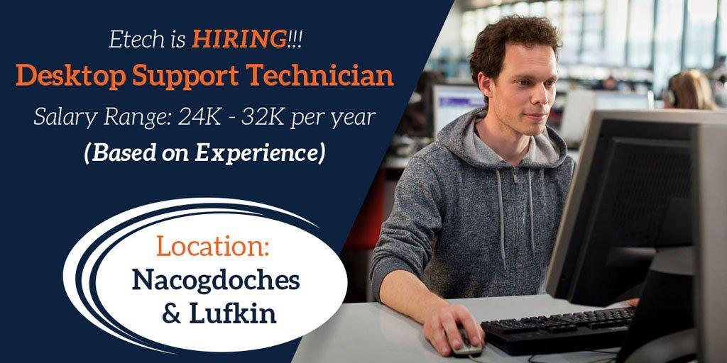 Desktop Support Technician >> Etech Jobs On Twitter Etech Is Hiring Desktop Support Technician