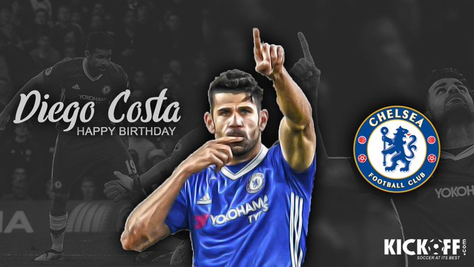 In January he will officially be moving to Atletico Madrid. Join us in wishing Diego Costa a Happy Birthday!