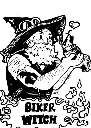 Here&#39;s something special for today. A Biker Witch. I loved drawing this one.  #ink #biker #witch<br>http://pic.twitter.com/eGZiVryh3R