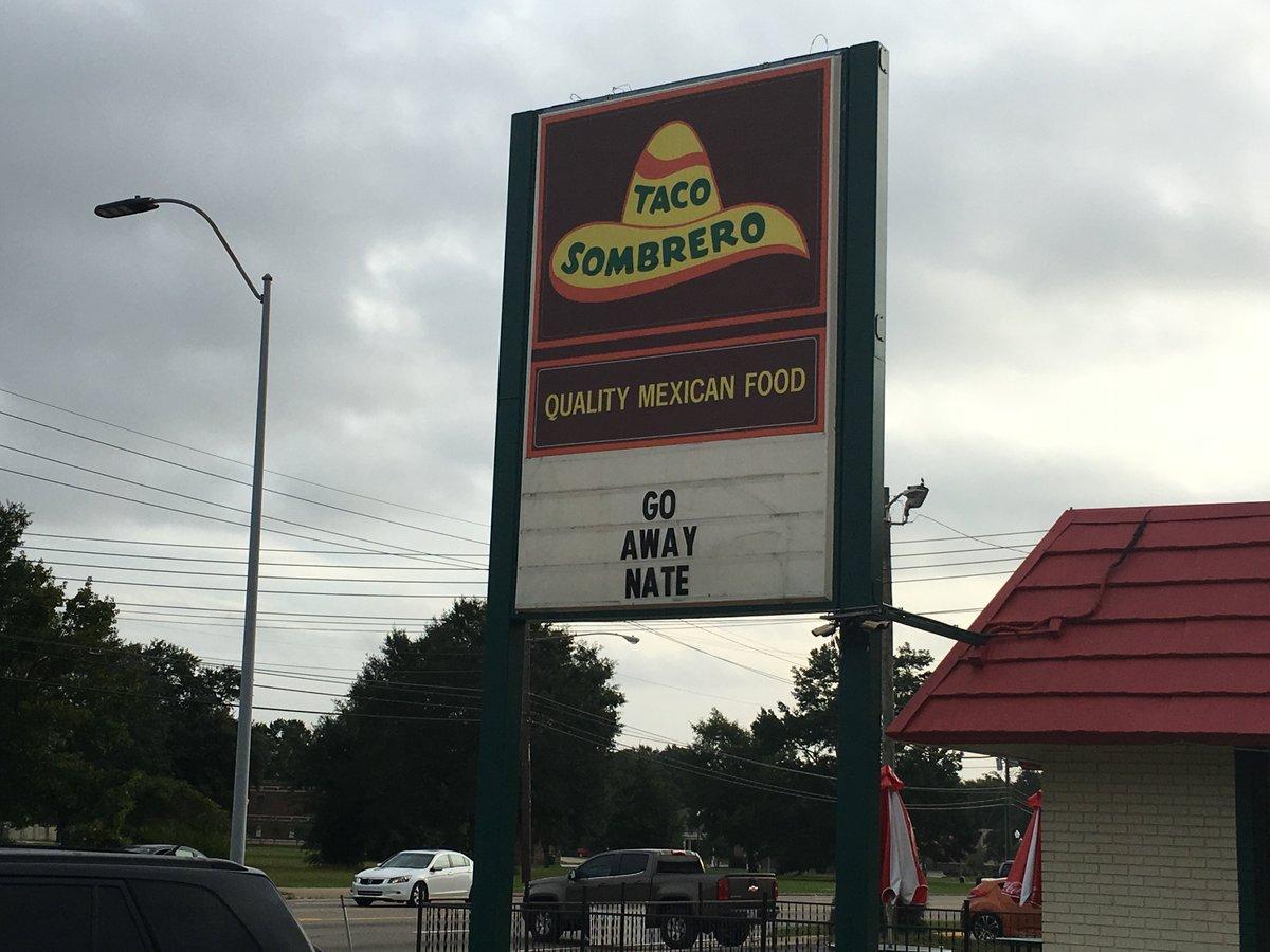 No tacos for you, #HurricaneNate! https://t.co/NHURPgSR1f