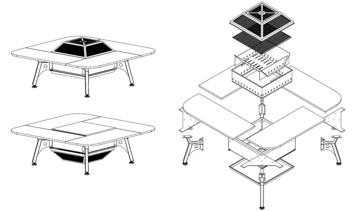 #Table #multifonction hol'in one #moninventionvautdelor #  http:// fest-france.com     # innovation #bbq #brasero #demontable<br>http://pic.twitter.com/xltVpOXWzP