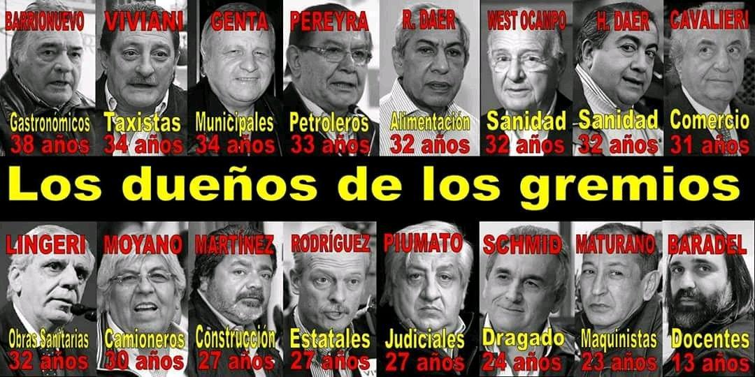 Resultado de imagen para sindicalistas gordos argentinos