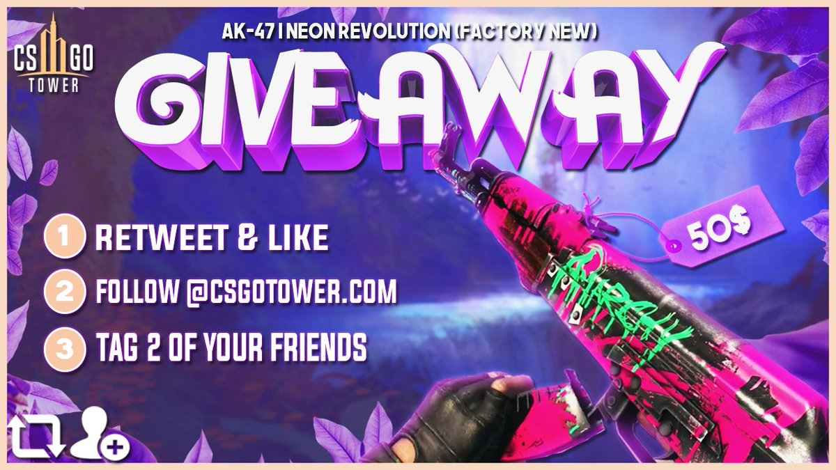 🔥 🔥 LIT GIVEAWAY!!!  🔥 🔥    - RT & LIKE  - FOLLOW @CSGOTowercom   - TAG 2 OF YOUR FRIENDS     🤟🤟 48 hours and the skin will be yours! 🤟🤟