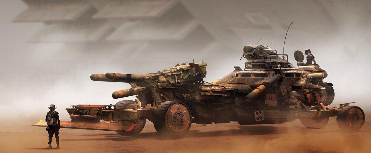 21+ Post Apocalyptic Desert Concept Art Background