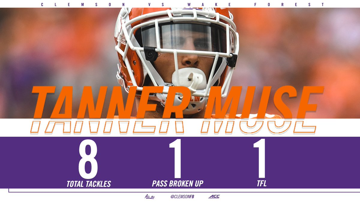 Tanner Muse brought the  today on defense. #WAKEvsCLEM <br>http://pic.twitter.com/FjEaqBuBNb