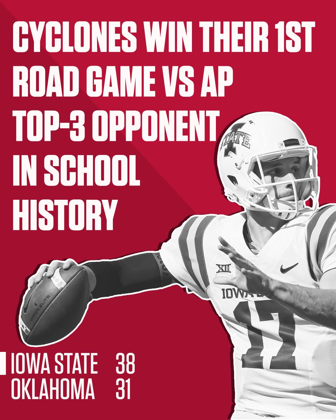 The Cyclones went into Norman and did something they've never done before. https://t.co/rzS4wDFOIU