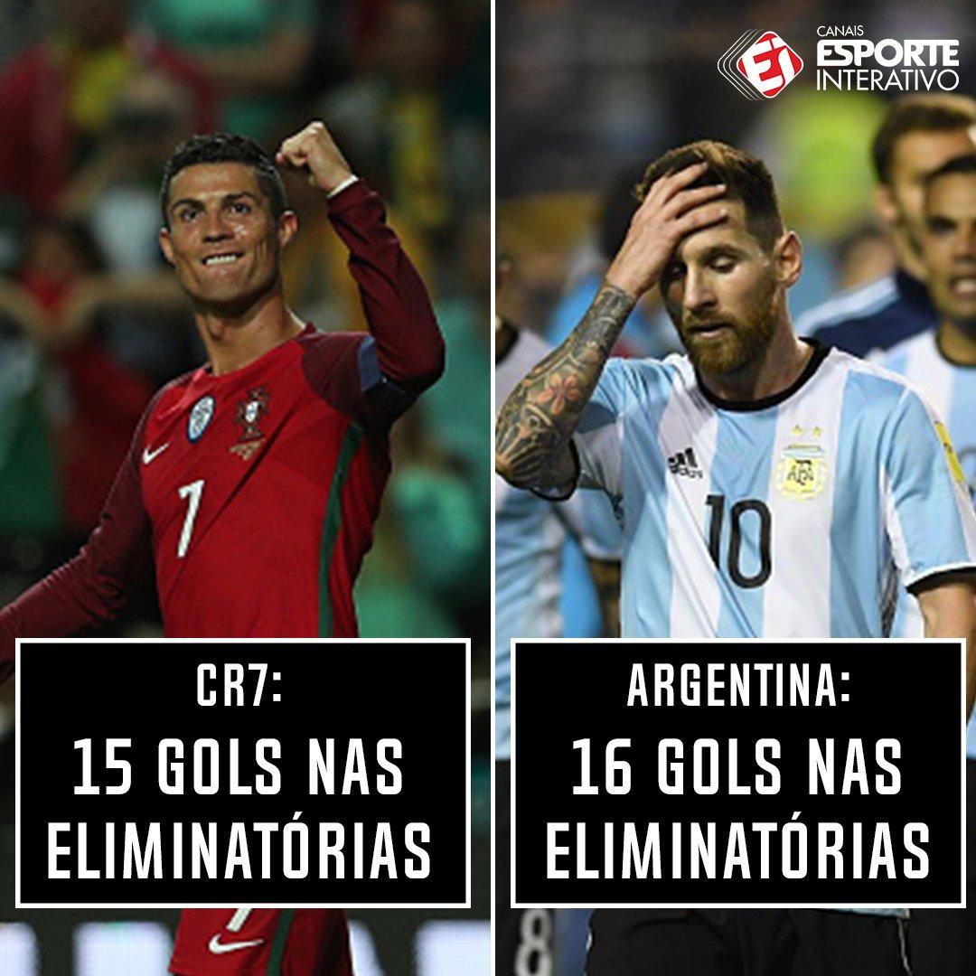 Com o gol marcado hoje, @Cristiano tá quase com o mesmo número de gols da Argentina nas eliminatórias! Tem que respeitar!