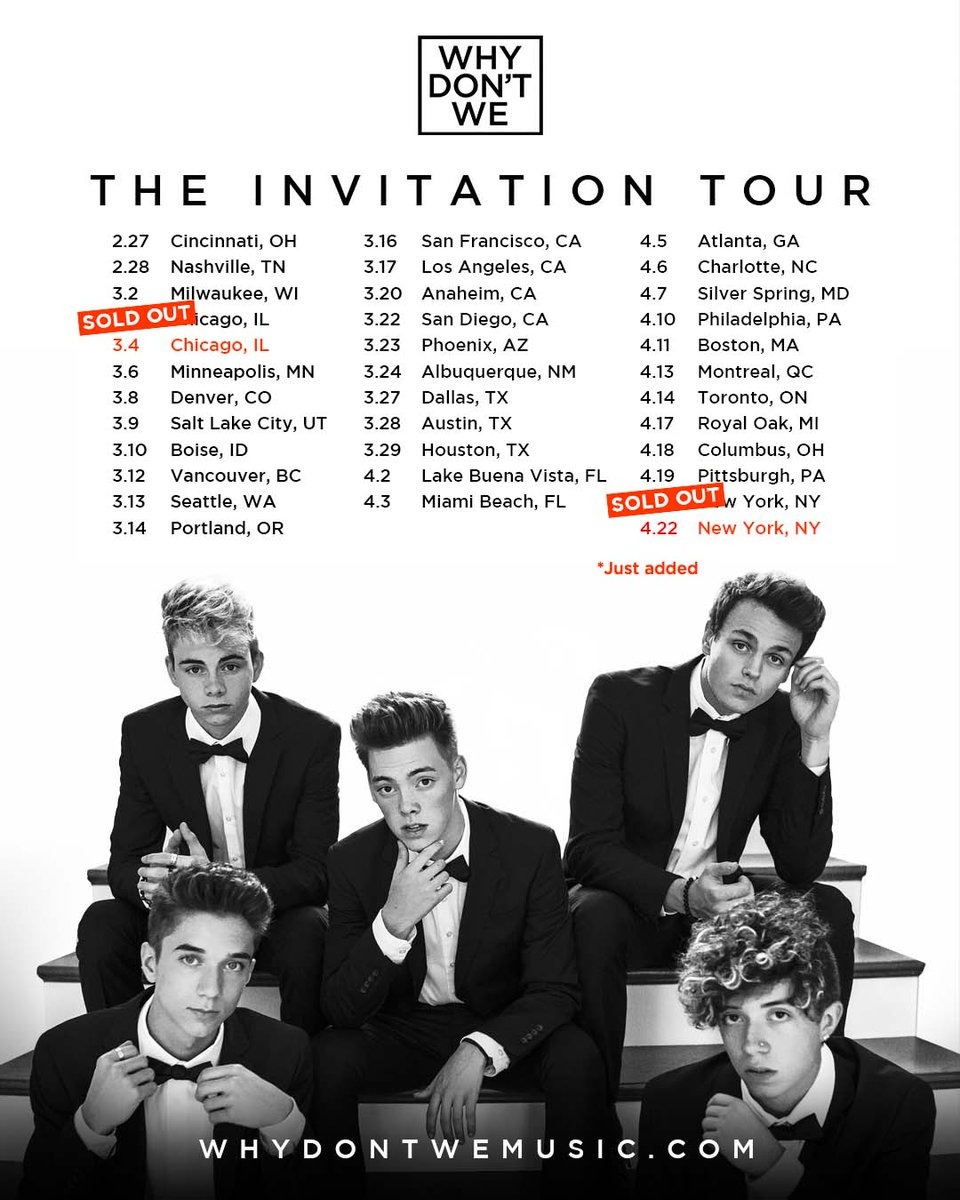 why don t we on twitter invitationtour just went on sale and rh twitter com what you don't do haywyre do you don't you
