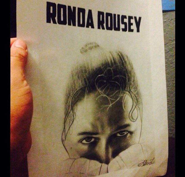 """""""Who Wants Some?""""  11x14in Ronda Rousey portrait. Sold #rondarousey #ronda #mma #mmafighter #FastandFurious #fast8 #fighter #worldstar<br>http://pic.twitter.com/OhBo5EyoqV"""