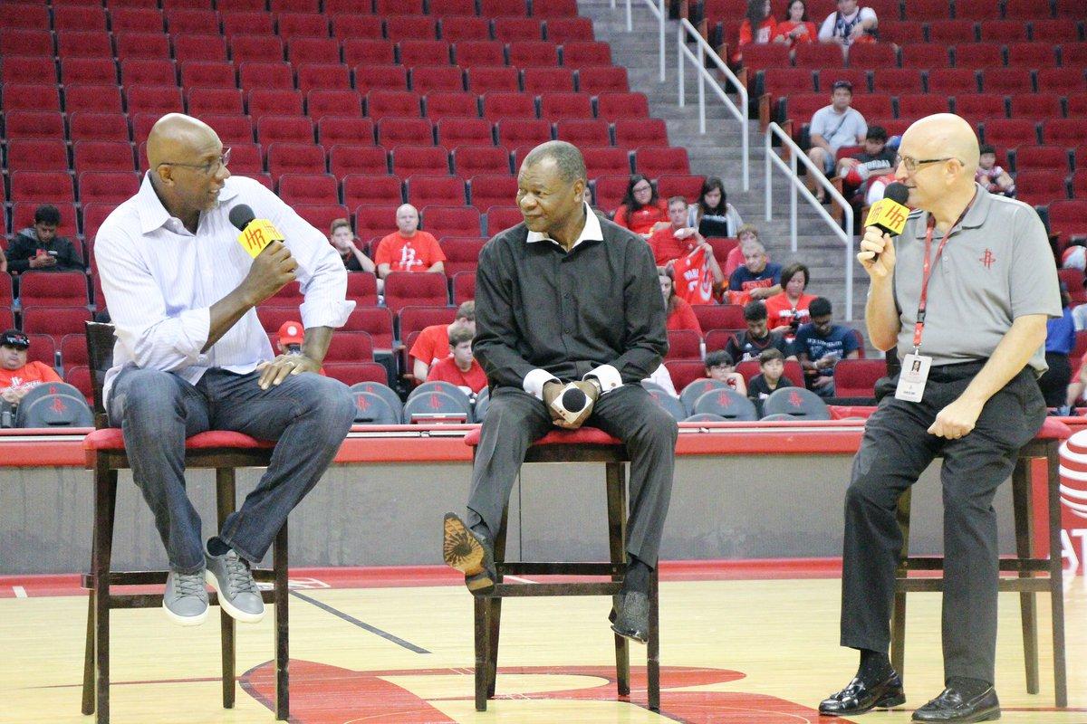 "Houston Rockets on Twitter ""Great seeing Rockets Legends Clyde"