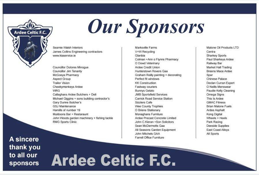 01453bcd1c3 Ardee Celtic F.C. on Twitter: