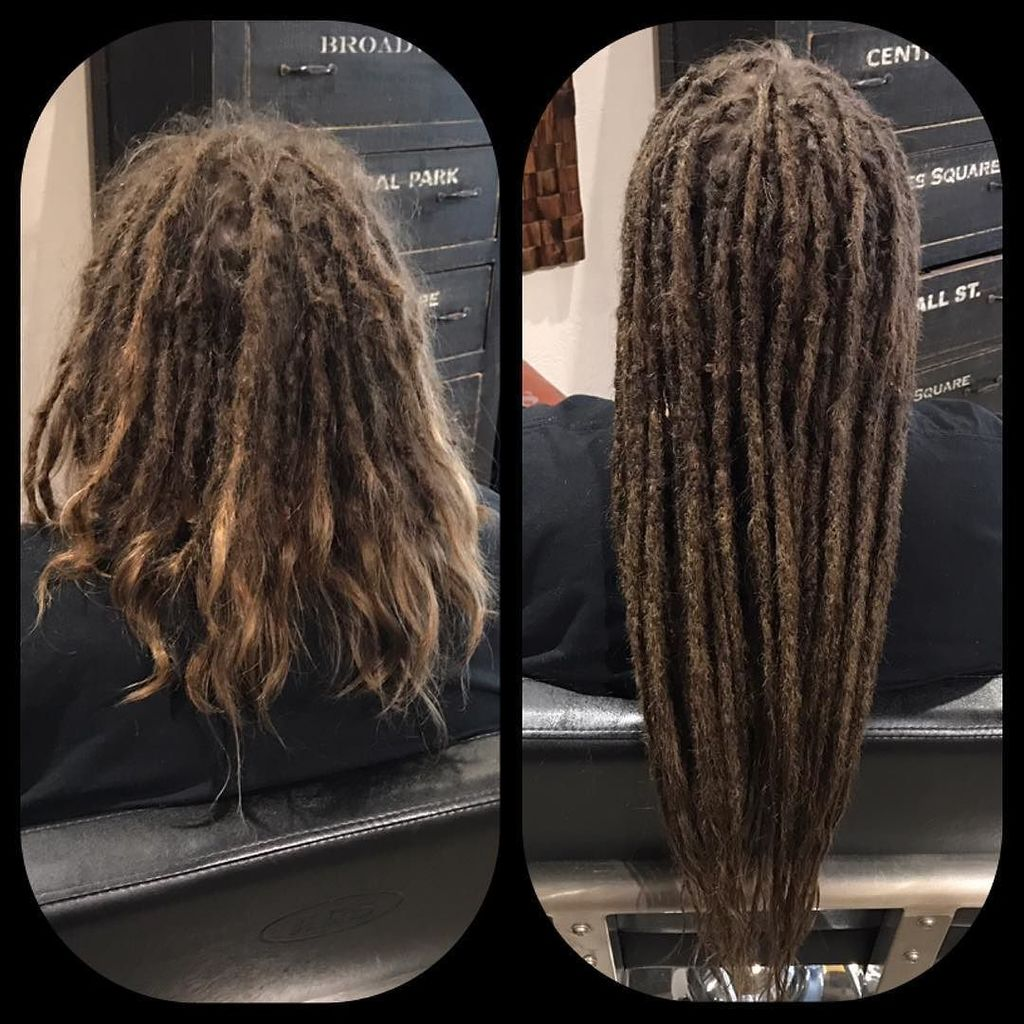 Dollylocks On Twitter Before After Human Hair Dreadlock