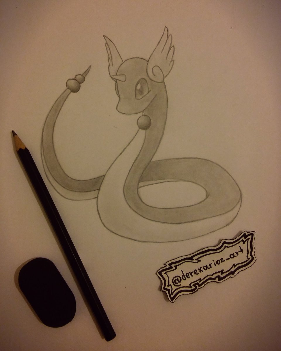 Derexarioz art on twitter 🔵dragonair 🔵 artwork cute pokemon ink pencil sketch draw dragonair dragon colour art pokemonart otaku anime
