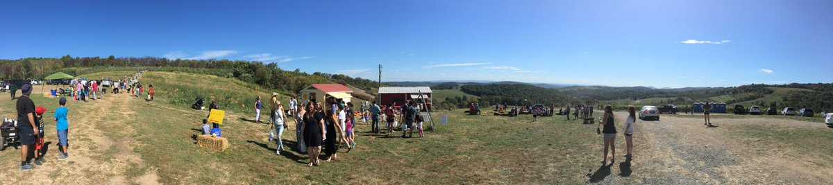 Beautiful day for apple and pumpkin picking at Hollin Farms in Delaplane. Sure doesn't feel like Fall....
