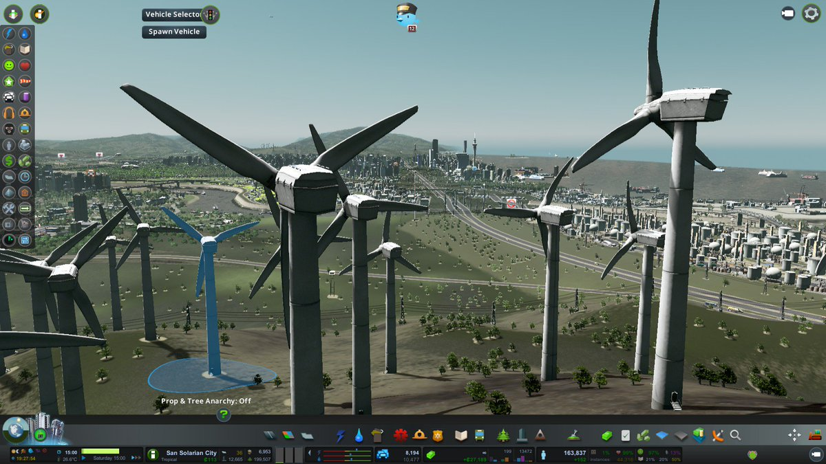 Looking wind turbine