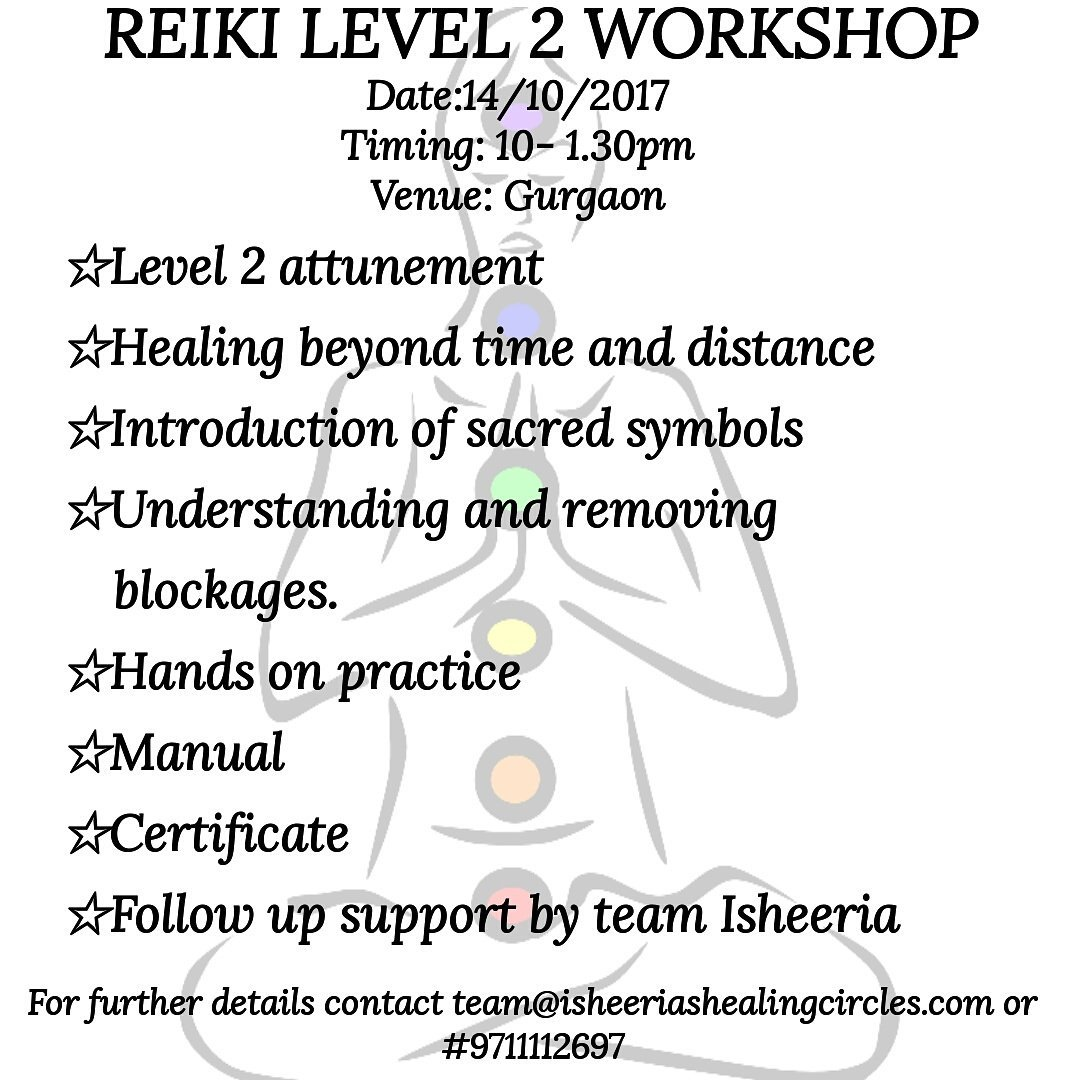 Isheeria On Twitter Announcing Our Level 2 Reiki Workshop